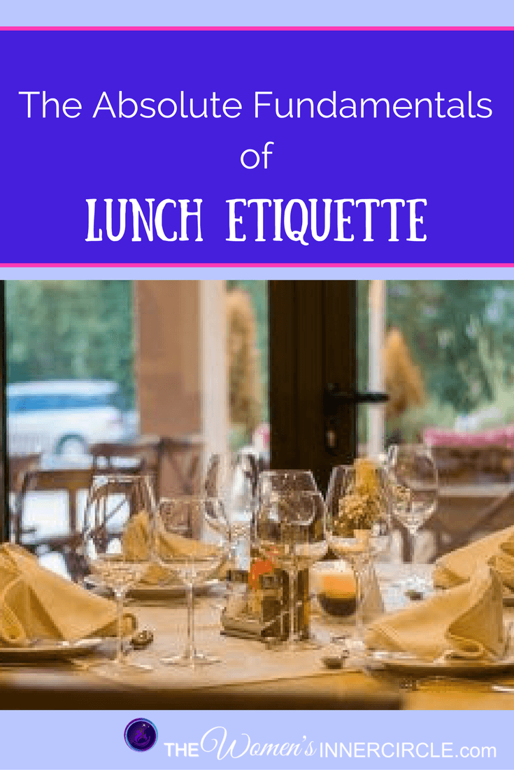 If You want to Be in the Know about proper Lunch Etiquette, look no further. Our resident experts tells everything you need to know ...